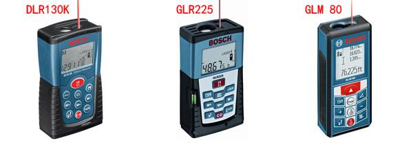 Bosch DLR130k vs GLR225 vs GLM 80